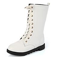 女の子 靴 レザー 秋 冬 コンフォートシューズ スノーブーツ ブーツ 用途 カジュアル ホワイト ブラック