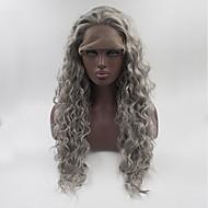 Synthetic Lace Front Wig Style Lace Front Wig Gray Grey Synthetic Hair Women's Gray Wig Medium Length / Long Natural Wigs