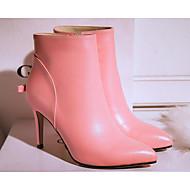 billige -Dame Sko Lær Vår Høst Komfort Trendy støvler Støvler Til Avslappet Svart Lilla Rosa