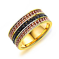 Homens Anéis Grossos Resina Coreano Fashion Titânio Aço Forma Geométrica Jóias Diário Rua