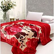 Superweich,Garngefärbt Blumen/Pflanzen Polyester/Polyamid Decken