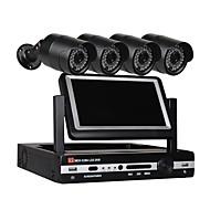 billige AHD-sæt-4 ch sikkerhedssystem 7 tommer lcd 1080n ahd dvr 42.0mp vejrbestandige kameraer med nattesyn