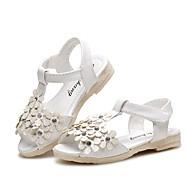 tanie Obuwie dziewczęce-Dla dziewczynek Buty Derma Lato Comfort Sandały Stras Tasiemka Kwiat na Casual Formalne spotkania White