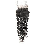 Remy Cabelo Brasileiro Cabelo Humano Ondulado Onda Profunda Extensões de cabelo 1pç Preto