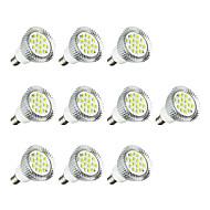 billige Spotlys med LED-10pcs 3W 260-300 lm E14 LED-spotpærer E14 / E12 16 leds SMD 5630 LED Lys Varm hvit Hvit AC 220-240V