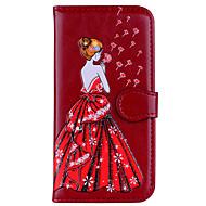 billiga Mobil cases & Skärmskydd-fodral Till Xiaomi Redmi Note 4 Redmi 4X Korthållare Lucka Mönster Läderplastik Sexig kvinna Glittrig Hårt för