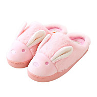Feminino Sapatos Tecido de Poliamida Algodão Outono Inverno Conforto Chinelos e flip-flops Para Casual Cinzento Roxo Café Azul Rosa claro