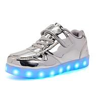 tanie Obuwie dziewczęce-Dla dziewczynek Buty PU Jesień Zima Świecące buty Tenisówki LED na Casual Impreza / bankiet Gold Silver Różowy