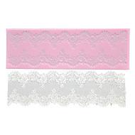 Four-C dort krajky podložka silikonová forma dort Dekorační materiály, silikonová podložka fondant dort nářadí barva růžová