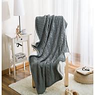 Superweich,Einfarbig Solide Wolle/Baumwolle Decken