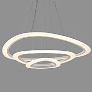 現代のアクリル三角形のシンプルさは、オフィスのリビングルームの寝室のレストランのためのペンダントライト3つのリング屋内光を導いた