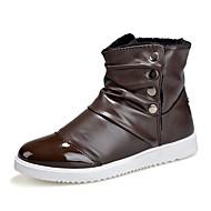 Hombre Zapatos Cuero Otoño / Invierno Botas de Combate Botas Mitad de Gemelo Negro / Morado / Marrón xz79zGjKkR