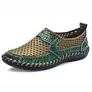 Erkek Ayakkabı Tül Bahar / Yaz Rahat Mokasen & Bağcıksız Ayakkabılar Günlük için Siyah / Yeşil / Mavi