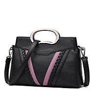 Women Bags Fall Winter PU Shoulder Bag Zipper for Event/Party Casual White Black Gray Purple