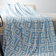 Superweich,Bedruckt Gitter Polyester / Baumwolle Decken