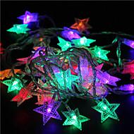 10m 60led rgb christmas lys star lights ferie bryllup fest dekorationer gardin lys streng lys 220v