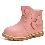 Para Meninas sapatos Courino Inverno Outono Botas de Neve Conforto Botas para Casual Roxo Vermelho Azul Rosa claro