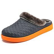 Masculino sapatos Flanelado Inverno Conforto Tamancos e Mules para Preto Cinzento Marron Azul