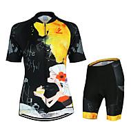 Arsuxeo Biciklistička majica s kratkim hlačama Žene Kratki rukav Bicikl Kompleti odjećeQuick dry Anatomski dizajn Prozračnost YKK patent
