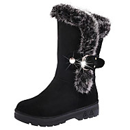 Women's Shoes PU Fall Winter Comfort Snow Boots Boots For Casual Burgundy Camel Black