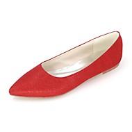 abordables Chaussures Plates pour Femme-Chaussures femme ador® scintillantes paillettes paillettes printemps / été à talon plat à bout pointu argent / rouge / bleu / mariage / fête& soir