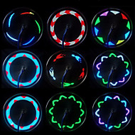 Fietsverlichting wiel lichten LED - Wielrennen Waterbestendig Klein formaat Gemakkelijk draagbaar Draadloos Kleurveranderend LED Lamp AAA