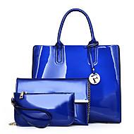 Damen Taschen PU Bag Set 3 Stück Geldbörse Set Reißverschluss für Einkauf Normal Alle Jahreszeiten Blau Schwarz Rote Purpur