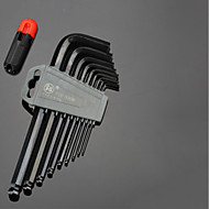 längerer Inbusschlüssel Satz runder Kopf T-Typ 5mm / 3mm6 Winkelkombination Schraubendreher neun Sätze von Werkzeugen Kugelkopf verlängert