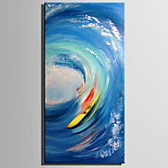 cheap Oil Paintings-Hand-Painted Landscape Vertical,Rustic Modern Two Panels Canvas Oil Painting For Home Decoration