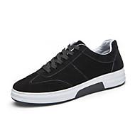 Masculino sapatos Pele Primavera Outono Conforto Chinelos e flip-flops Para Casual Preto Vermelho Cinzento