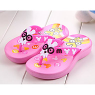 baratos Sapatos de Menina-Para Meninas Sapatos Pele PVC Outono / Inverno Conforto Chinelos e flip-flops para Azul / Rosa claro
