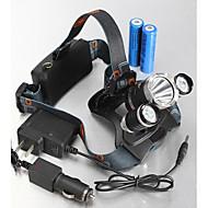 ヘッドランプ 自転車用ライト ヘッドライト LED 4000,5000,5300 lm 4.0 モード Cree XM-L T6 Cree XM-L U2 充電式 防水 のために キャンプ/ハイキング/ケイビング 日常使用 サイクリング 狩猟 旅行 運転 ワーキング 多機能