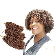 Pre-loop Crochet Braids 3pcs/pack Hair Braid Crochet Curly Bouncy Curl Island Twist Jamaican Bounce Hair Synthetic Hair Black/Strawberry Blonde