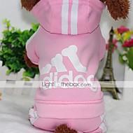 preiswerte Bekleidung & Accessoires für Hunde-Hund Mäntel Kapuzenshirts Overall Hundekleidung Lässig/Alltäglich Solide Grau Gelb Rot Rosa Hellblau Kostüm Für Haustiere