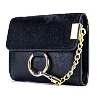 Women Bags Cowhide Coin Purse Buttons for Outdoor Office & Career All Season Black Dark Green Camel Wine