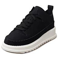 お買い得  レディーススニーカー-女性用 靴 PUレザー 冬 コンフォートシューズ スニーカー ラウンドトウ のために カジュアル ホワイト ブラック