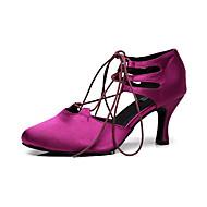 billige Moderne sko-Dame Moderne sko Silke Sandaler Trimmer Stiletthæl Kan spesialtilpasses Dansesko Svart / Lilla / Ytelse
