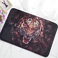 tapete de piso antiderrapante criativo padrão de tigre