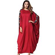Žene Swing kroj Haljina Jednobojni Maxi Crvena