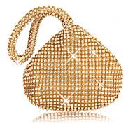 Žene Torbe Poliester Večernja torbica Kristalni detalji za Vjenčanje Zabave Sva doba Zlato Crn Pink