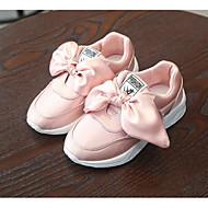 baratos Sapatos de Menina-Para Meninas Sapatos Seda Outono / Inverno Conforto Tênis Caminhada Laço para Verde Tropa / Rosa claro / Vinho / Botas Curtas / Ankle