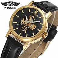 WINNER Dámské Hodinky k šatům Náramkové hodinky mechanické hodinky Automatické natahování S dutým gravírováním Kůže Kapela Na běžné