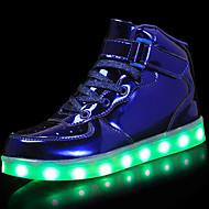 Chlapecké Boty Lakovaná kůže   Personalizované materiály Podzim Pohodlné    Svítící boty Tenisky Šněrování   Háčky a očka   LED pro Stříbrná   Modrá    Růžová ... e357156eb6