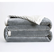 cheap Blankets & Throws-Other Accessories, Printed Solid Colored Polyester Blankets