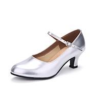 billige Kustomiserte dansesko-Dame Moderne sko Lær Høye hæler Perle Kustomisert hæl Kan spesialtilpasses Dansesko Sølv