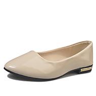Feminino Sapatos Couro Ecológico Primavera Verão Conforto Rasos Sem Salto Dedo Apontado Poa Para Casual Social Preto Bege Roxo Fúcsia