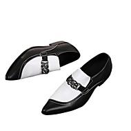 billige Lædersko-Herre Formelle Sko Læder Forår / Efterår Vintage / Komfort Oxfords Sort / Sort / Hvid / Bryllup / Fest / aften / Novelty Shoes