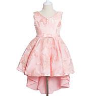 Menina de Vestido Feriado Floral Verão Outono Poliéster Sem Manga Fofo Princesa Azul Vermelho Rosa