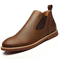cheap Extended-Size Shoes-Men's Shoes Rubber Spring Fall Comfort Boots for Outdoor Black Brown