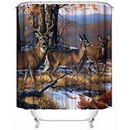 저렴한 -샤워 커튼 & 후크 클래식 네오클래식 100% 폴리에스터 동물 기계 제작